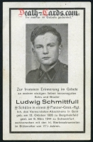 orig. WW2 Death Card - SS Soldier - Age 17 with Wound Medal in Gold