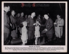 orig. WWII Press Photo - Hitler and Himmler with the sons of Reinhard Heydrich