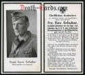 orig. WW2 Death Card - Inf. Regt. 199 List