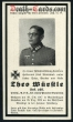 orig. WW2 Death Card - Phoney War Westfront Dec. 1939 *RARE*