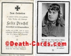 orig. WW2 Death Card - Young Pilot - Top Photo in Flightgear - KIA 1943
